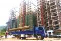龙川米贝村安置小区外墙工程基本完工 受灾户下月有望入住
